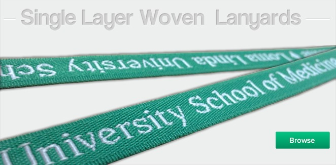 Single Layer Woven Lanyards